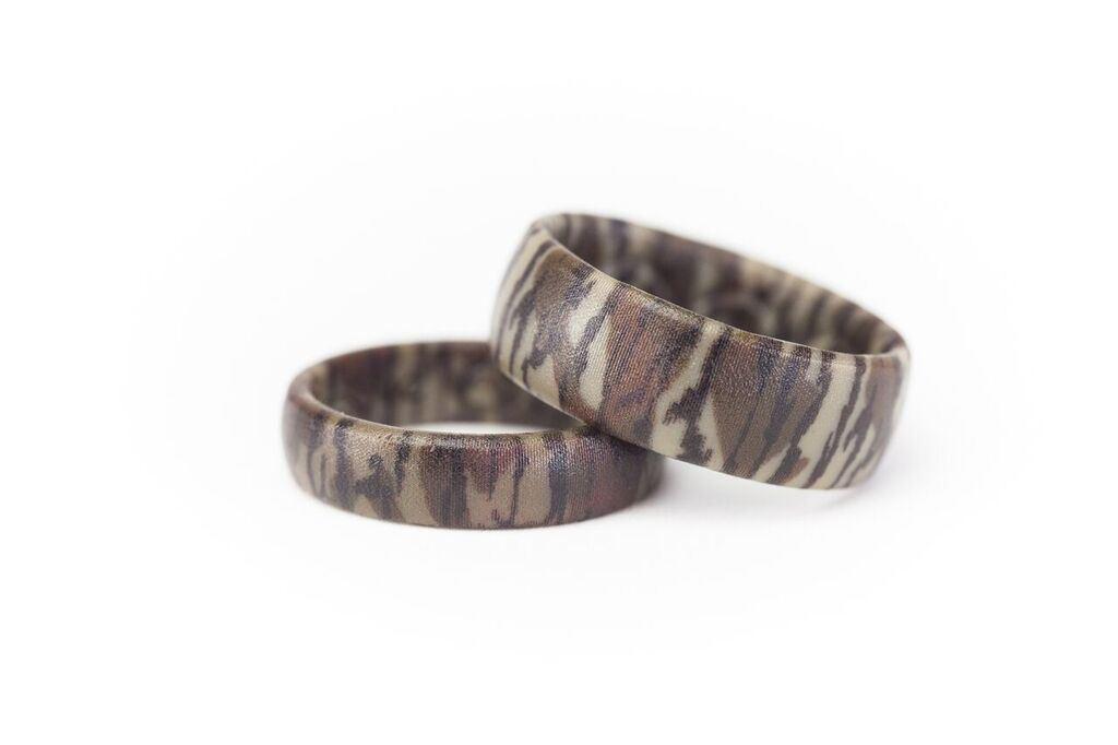 mossy oak bottomland camouflage silicone ring