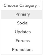 choose category gmail