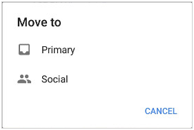 move to primary gmail